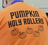 DAVID E. DALE | Herald. A T-shirt advertises a fundraiser held at Holy Cross Orthodox Church.