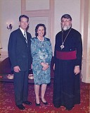His Eminence, Archbishop Nathaniel with His Majesty, King Michael I and Queen Ana in 1992 in Vancouver, BC.